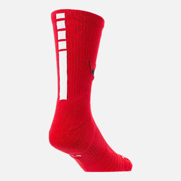 Alternate view of Unisex Nike Chicago Bulls NBA Team Elite Crew Basketball Socks in University Red