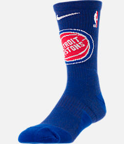 Unisex Nike Detroit Pistons NBA Team Elite Crew Basketball Socks