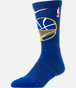 Unisex Nike Golden State Warriors NBA Team Elite Crew Basketball Socks