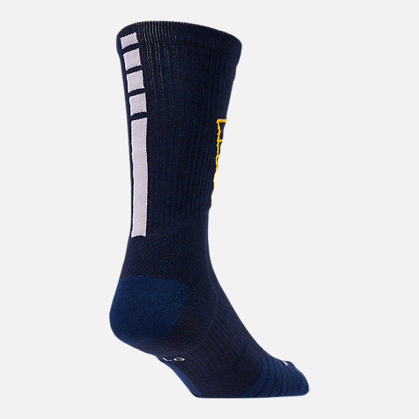Alternate view of Unisex Nike Indiana Pacers NBA Team Elite Crew Basketball Socks in College Navy