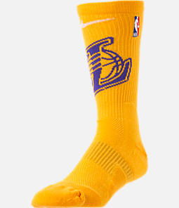 Unisex Nike Los Angeles Lakers NBA Team Elite Crew Basketball Socks