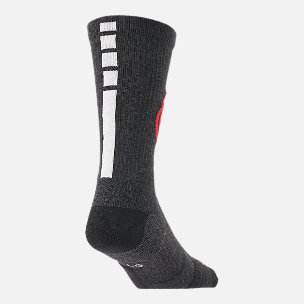 Alternate view of Unisex Nike Portland Trail Blazers NBA Team Elite Crew Basketball Socks in Black