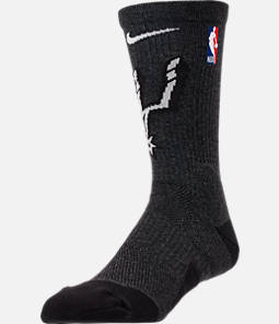 Unisex Nike San Antonio Spurs NBA Team Elite Crew Basketball Socks