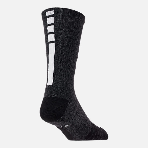 Alternate view of Unisex Nike San Antonio Spurs NBA Team Elite Crew Basketball Socks in Black/Silver/White