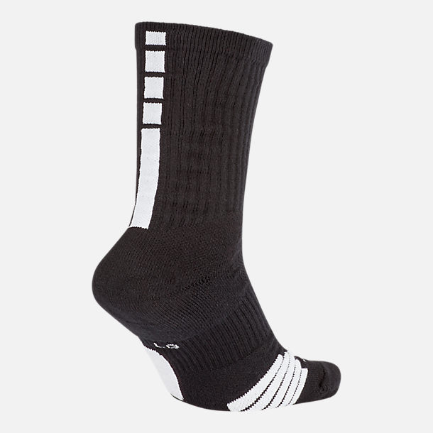 Front view of Unisex Nike Elite Crew Basketball Socks in Black/White