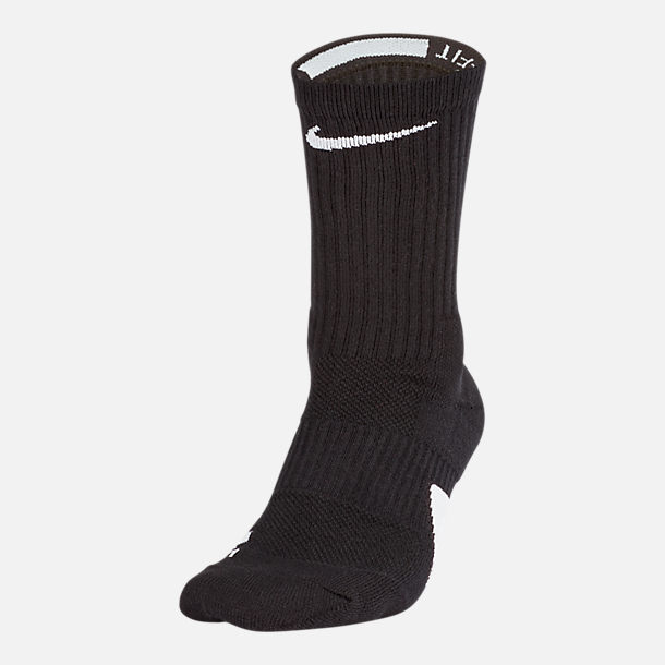 Back view of Unisex Nike Elite Crew Basketball Socks in Black/White