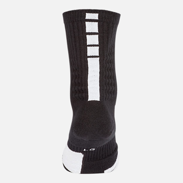 Alternate view of Unisex Nike Elite Crew Basketball Socks in Black/White