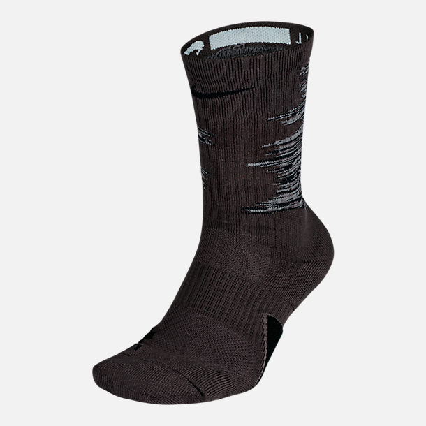 Back view of Unisex Nike Elite Graphic Basketball Crew Socks