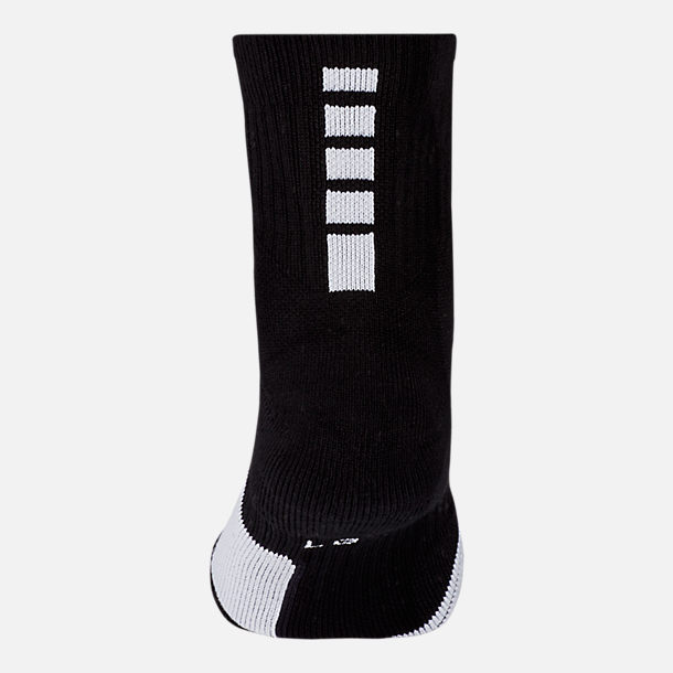 Alternate view of Unisex Nike Elite Mid Basketball Socks in Black/White