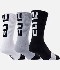 Unisex Nike Elite 3-Pack Crew Basketball Socks