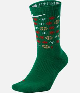 Unisex Nike Elite Christmas 1.5 Crew Basketball Socks