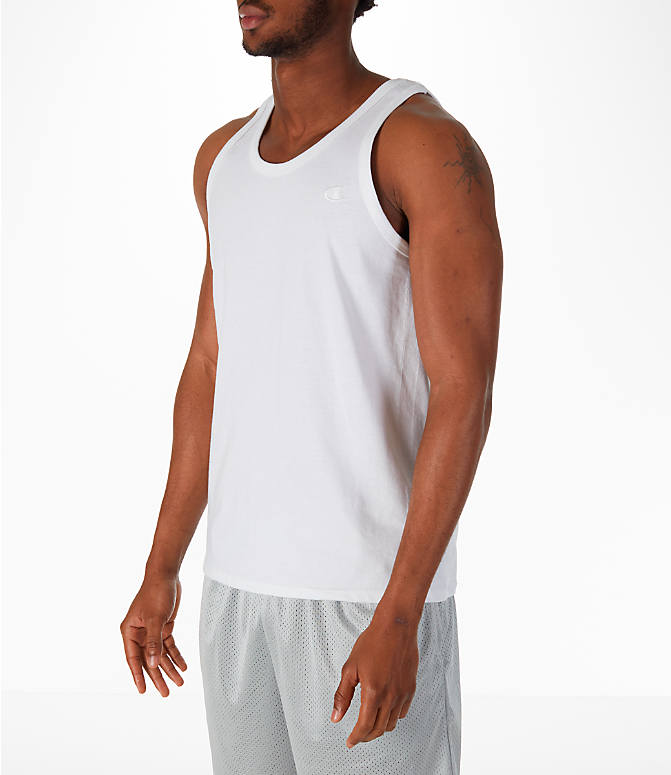 Front Three Quarter view of Men's Champion Classic Ringer Tank