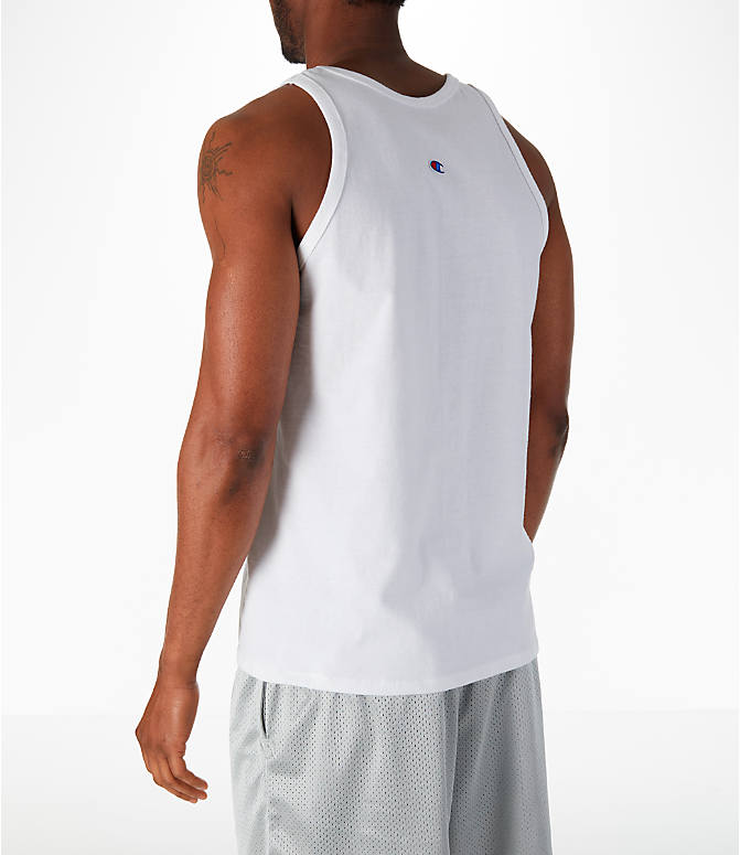 Back Left view of Men's Champion Classic Ringer Tank