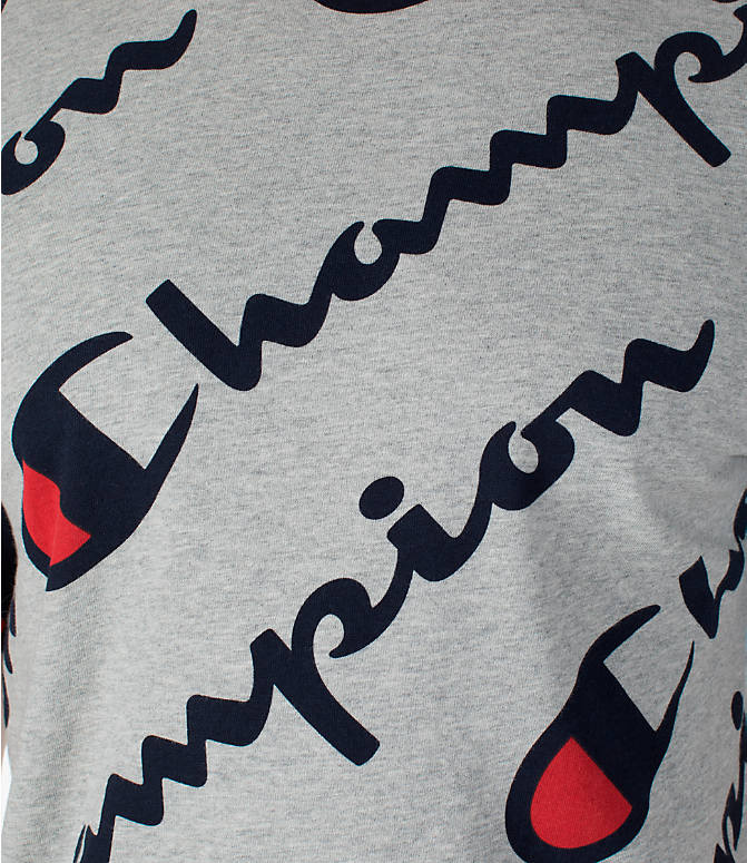 Detail 1 view of Men's Champion Heritage All-Over T-Shirt in Oxford Grey
