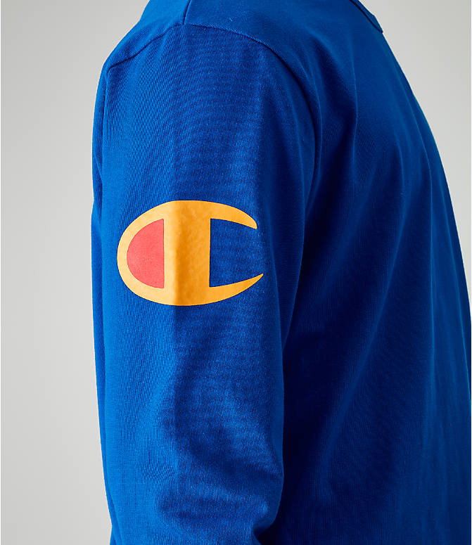 Detail 2 view of Men's Champion Heritage Script Long-Sleeve T-Shirt in Royal
