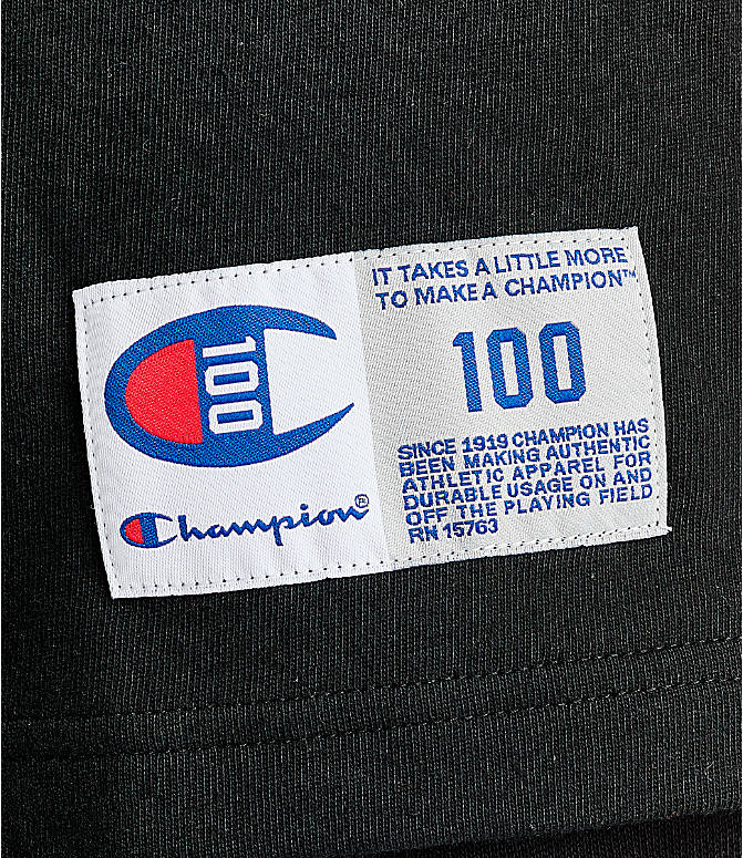 Detail 1 view of Men's Champion Century Collection Chenille Logo T-Shirt in Black