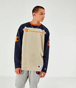 Men's Champion Long-Sleeve Football Jersey T-Shirt