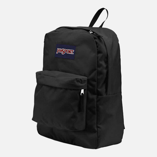 Back view of JanSport Superbreak Backpack in Black