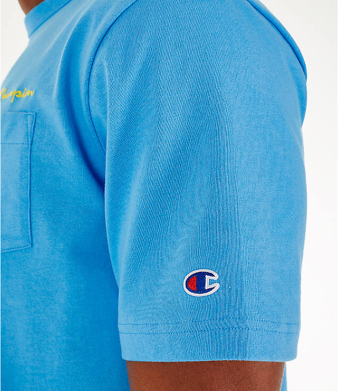 Detail 2 view of Men's Champion Heritage Pocket T-Shirt in Active Blue