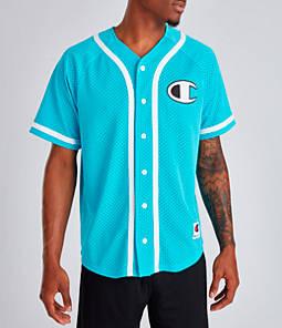 Men's Champion Mesh Baseball Jersey T-Shirt
