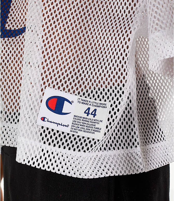 Detail 2 view of Men's Champion Mesh Football Jersey T-Shirt in White