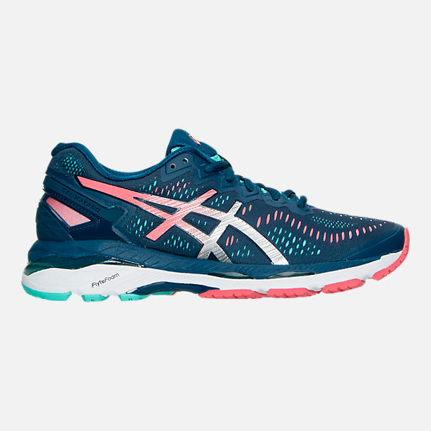 Right view of Women's Asics Gel Kayano 23 Running Shoes in Poseidon/Silver/Cockatoo