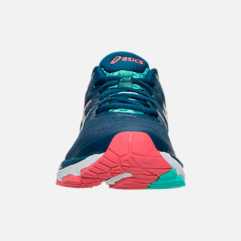 Front view of Women's Asics Gel Kayano 23 Running Shoes in Poseidon/Silver/Cockatoo