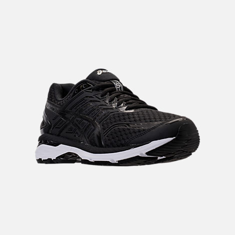 Three Quarter view of Men's Asics GT-2000 5 Running Shoes in Black/Onyx/White
