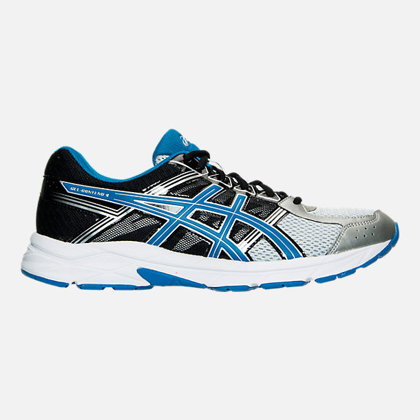 Right view of Men's Asics GEL-Contend 4 Running Shoes in Silver/Classic Blue/Black
