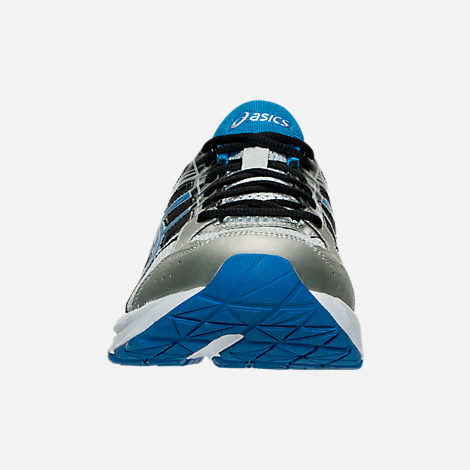 Front view of Men's Asics GEL-Contend 4 Running Shoes in Silver/Classic Blue/Black