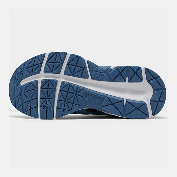 Bottom view of Men's Asics GEL-Contend 4 Wide Width Running Shoes in Silver/Classic Blue/Black