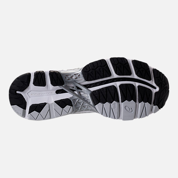 Bottom view of Men's Asics GEL-Kayano 24 Running Shoes in Silver/Black/Mid Grey