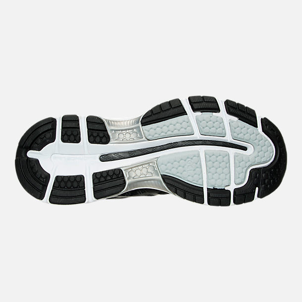 Bottom view of Women's Asics GEL-Nimbus 19 Running Shoes in Black/Onyx/Silver