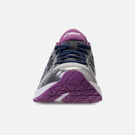 Front view of Women's Asics GEL-Contend 4 Running Shoes in Silver/Campanula/Carbon