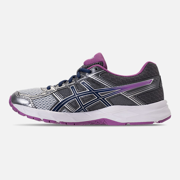 Left view of Women's Asics GEL-Contend 4 Running Shoes in Silver/Campanula/