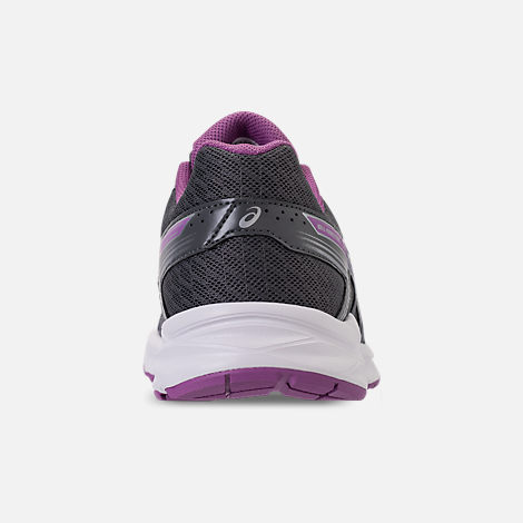 Back view of Women's Asics GEL-Contend 4 Running Shoes in Silver/Campanula/Carbon