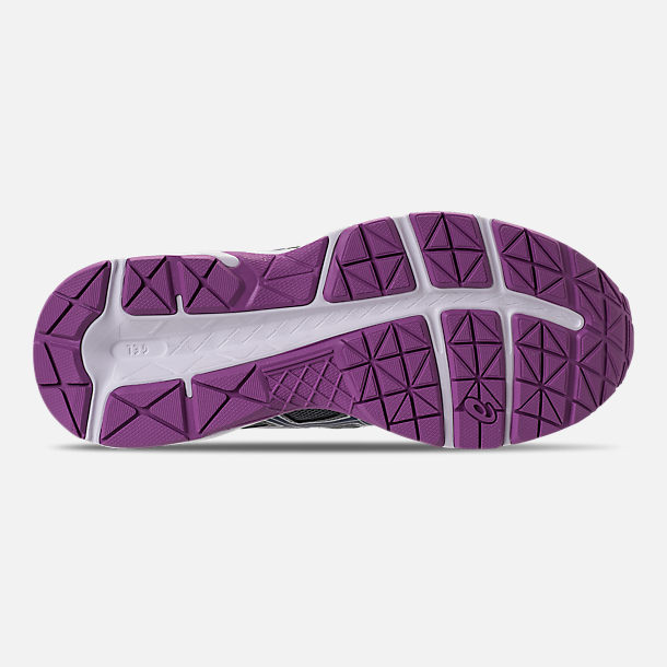 Bottom view of Women's Asics GEL-Contend 4 Running Shoes in Silver/Campanula/Carbon