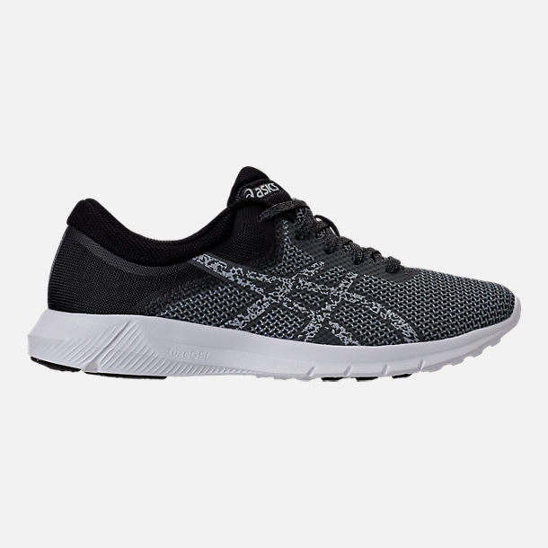 Right view of Men's Asics Nitrofuze 2 Running Shoes in Carbon/Glacier Grey/White
