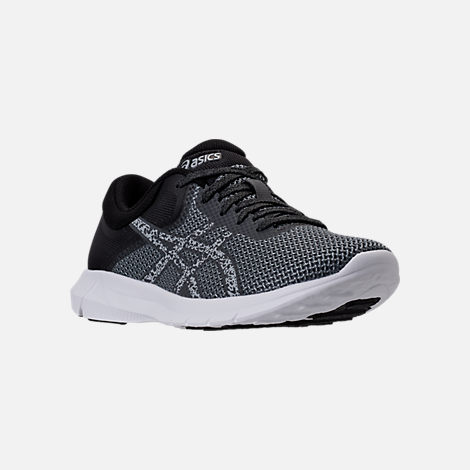 Three Quarter view of Men's Asics Nitrofuze 2 Running Shoes in Carbon/Glacier Grey/White