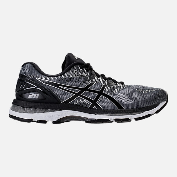 Right view of Men's Asics Nimbus 20 Running Shoes in Carbon/Black/Silver