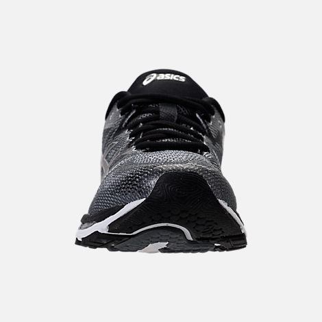 Front view of Men's Asics Nimbus 20 Running Shoes in Carbon/Black/Silver