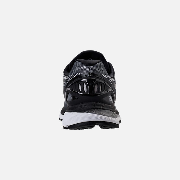 Back view of Men's Asics Nimbus 20 Running Shoes in Carbon/Black/Silver