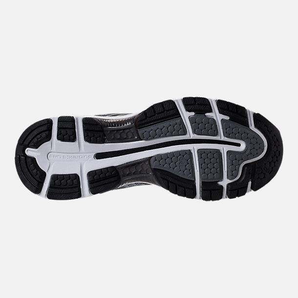 Bottom view of Men's Asics Nimbus 20 Running Shoes in Carbon/Black/Silver