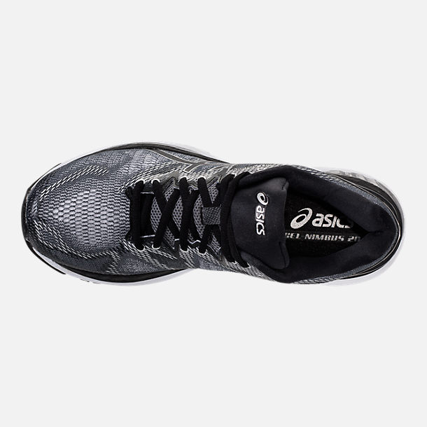 Top view of Men's Asics Nimbus 20 Running Shoes in Carbon/Black/Silver