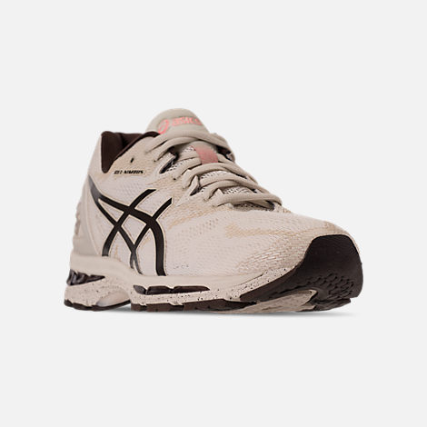 Three Quarter view of Men's Asics Nimbus 20 SP Running Shoes in Birch/Coffee/Blossom