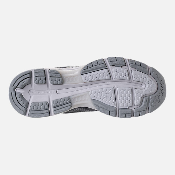 Bottom view of Men's Asics GEL-Nimbus 20 Platinum Running Shoes in Carbon/Silver/White