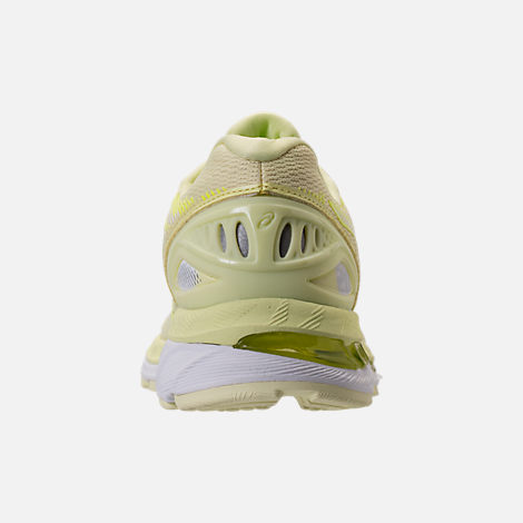 Back view of Women's Asics GEL-Nimbus 20 Running Shoes in Limelight/Limelight/Safety Yellow