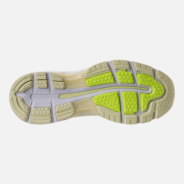 Bottom view of Women's Asics GEL-Nimbus 20 Running Shoes in Limelight/Limelight/Safety Yellow