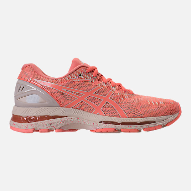 Right view of Women's Asics GEL-Nimbus 20 SP Running Shoes in Cherry/Coffee/Blossom