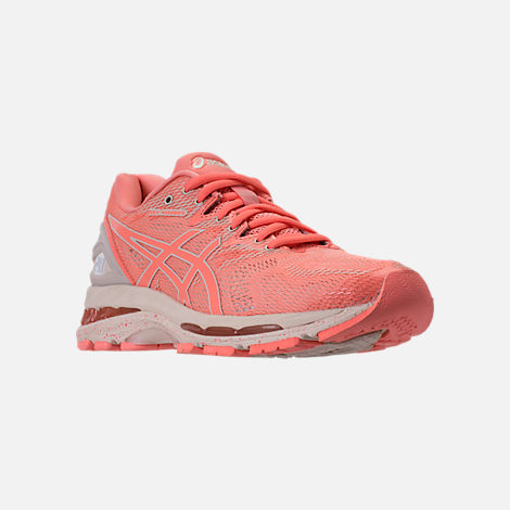 Three Quarter view of Women's Asics GEL-Nimbus 20 SP Running Shoes in Cherry/Coffee/Blossom